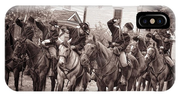 Civil War Soldiers On Horses IPhone Case