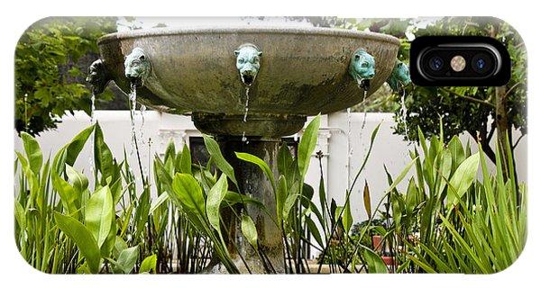 J Paul Getty iPhone Case - Civit Head Fountain Getty Villa Malibu California by Teresa Mucha
