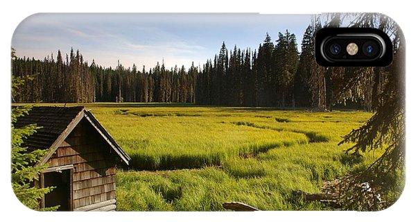 Clackamas Meadow Pump House- 2 IPhone Case
