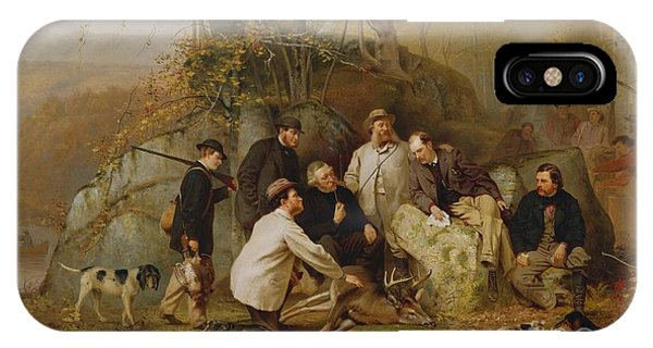 Claiming The Shot - After The Hunt In The Adirondacks IPhone Case