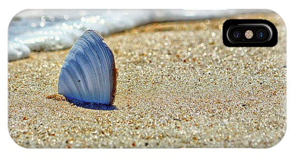 Clamshell In The Waves On Assateague Island IPhone Case