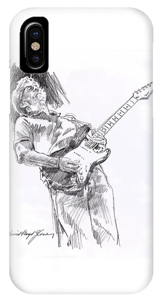 Eric Clapton iPhone Case - Clapton Blues Down by David Lloyd Glover
