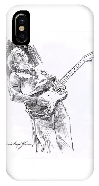 Eric Clapton iPhone Case - Clapron Blues Down by David Lloyd Glover
