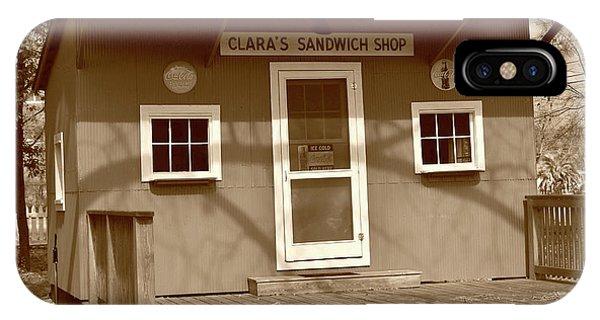 Clara's Sandwich Shop IPhone Case