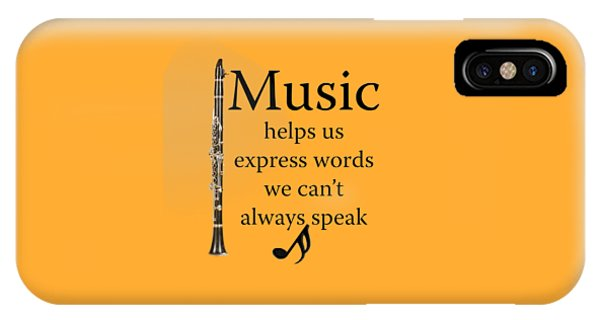 Clarinet Music Expresses Words IPhone Case