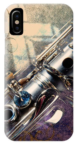 Clarinet Music Instrument Against A Cross 3520.02 IPhone Case