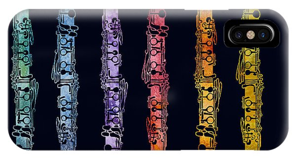 Clarinet Rainbow IPhone Case