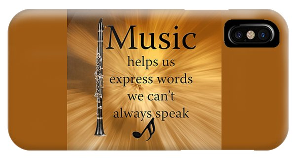 Clarinets Expresses Words IPhone Case