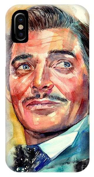 Oklahoma iPhone Case - Clark Gable Portrait by Suzann Sines