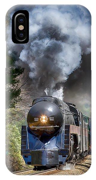 Class J 611 Steam Engine At Ridgecrest IPhone Case