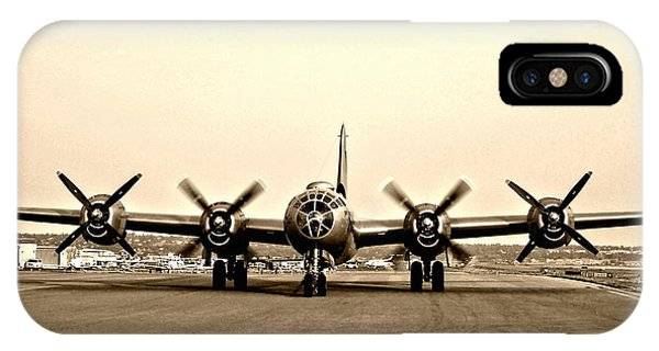 Classic B-29 Bomber Aircraft IPhone Case