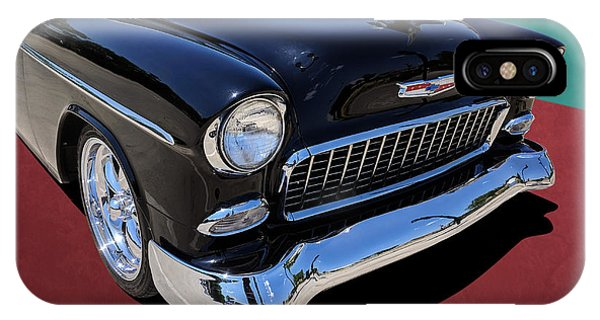 Classic Black And White 1950s Chevy Bel Air IPhone Case