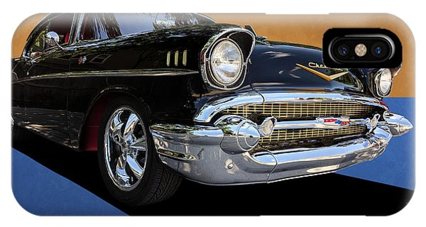 Classic Black Chevy Bel Air With Gold Trim IPhone Case