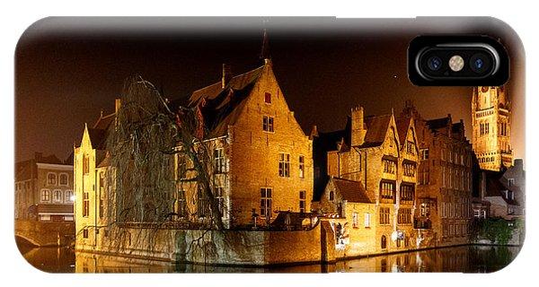 Classic Bruges At Night IPhone Case