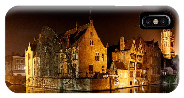 Classic Bruges At Night IPhone Case