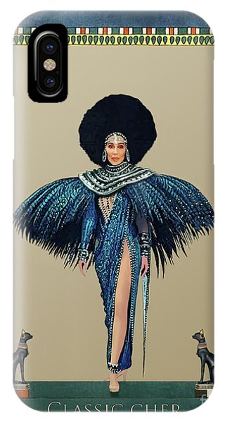 Sonny And Cher iPhone Case - Classic Cher Blue Feathers by Donna Schellack