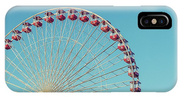 IPhone Case featuring the photograph Classic Chicago Ferris Wheel by Melanie Alexandra Price