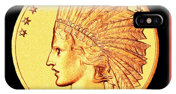 Classic Indian Head Gold IPhone Case
