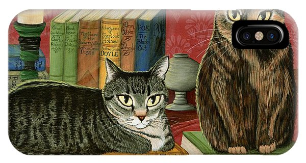 Classic Literary Cats IPhone Case