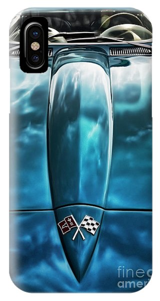 Classic Muscle - Corvette Roadster IPhone Case