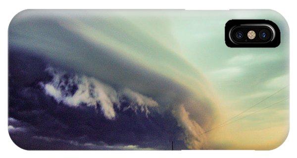 Nebraskasc iPhone Case - Classic Nebraska Shelf Cloud 024 by NebraskaSC