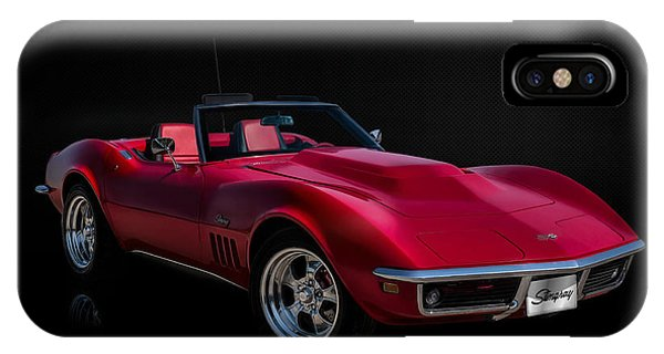 Chevrolet iPhone Case - Classic Red Corvette by Douglas Pittman