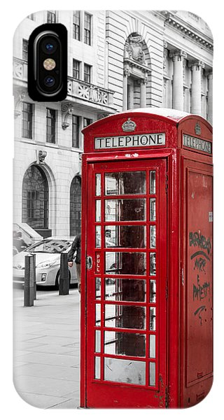 Red Telephone Box In London England IPhone Case