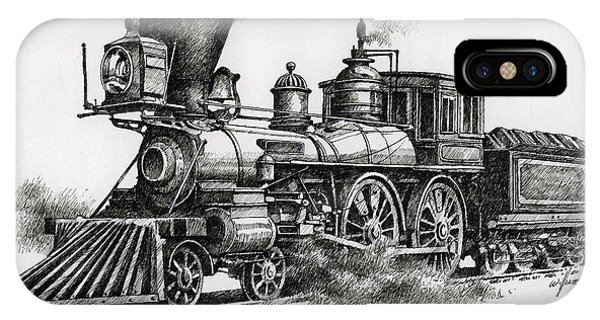 Train iPhone Case - Classic Steam by James Williamson