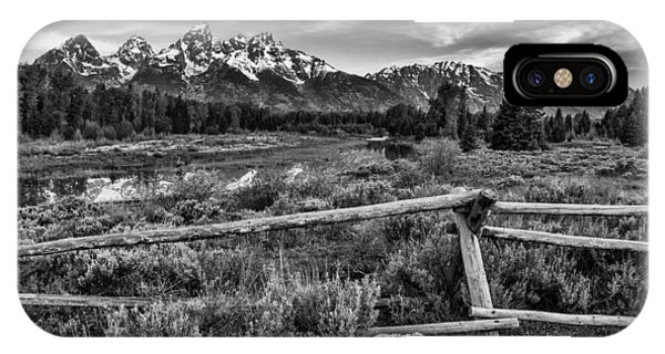 White Fence iPhone Case - Classic Tetons by Darren  White