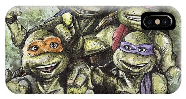 Turtle iPhone X Case - Classic Tmnt by Nate Michaels