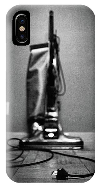 Classic Vacuum And Cord In Bw IPhone Case