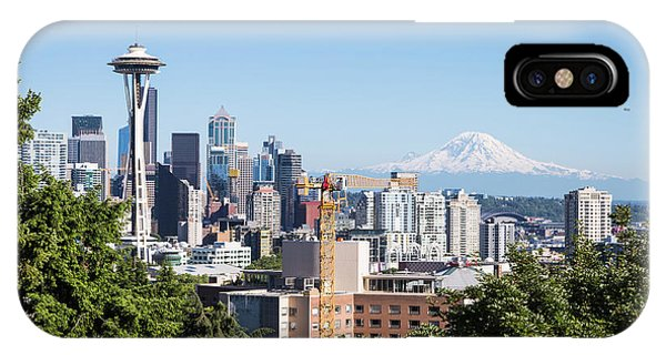 Classic View Of Seattle, Usa IPhone Case