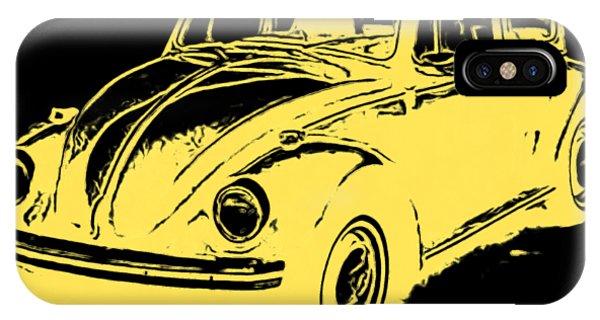 Sleeper iPhone Case - Classic Beetle Tee Yellow Ink by Edward Fielding