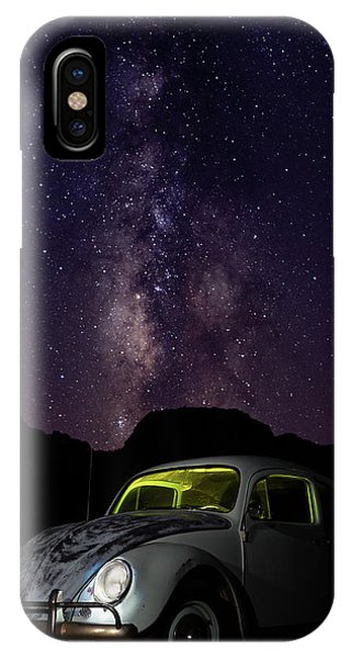 Classic Vw Bug Under The Milky Way IPhone Case