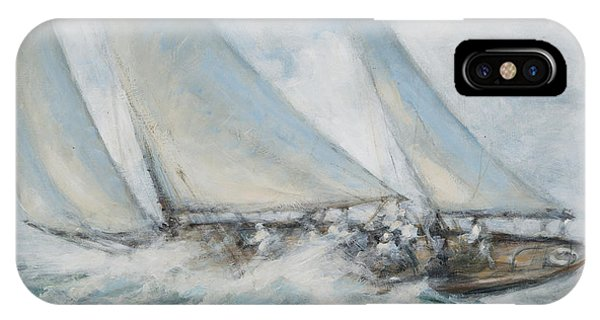 Ocean Breeze iPhone Case - Classic Yacht  Twixt Wind And Water by Richard Willis