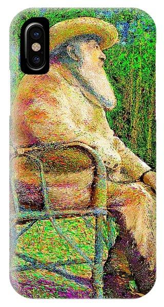 Claude Monet In His Garden IPhone Case