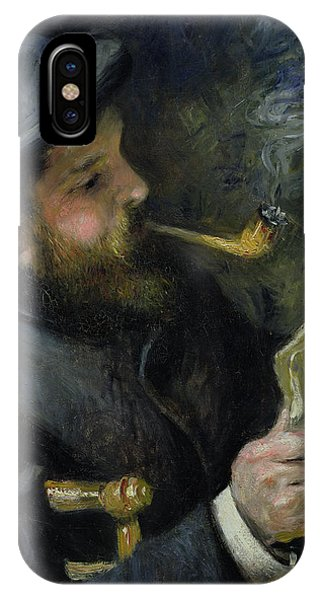 French Artist iPhone Case - Claude Monet Reading A Newspaper by Pierre Auguste Renoir