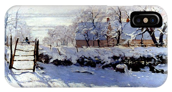Claude Monet The Magpie - To License For Professional Use Visit Granger.com IPhone Case
