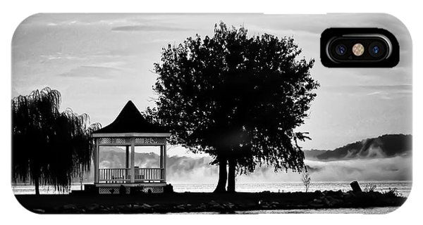 Claytor Lake Gazebo - Black And White IPhone Case