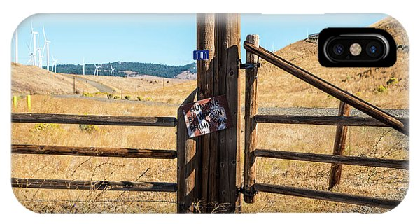 Clean Power And Old Ranch Gates IPhone Case