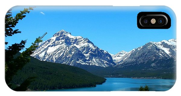 Clear Blue Lower Two Med Lake IPhone Case
