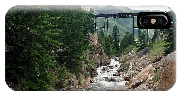 Clear Creek Colorado IPhone Case