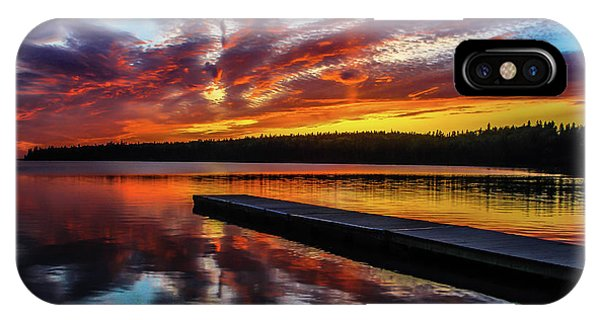 Clear Lake At Sunset. Riding Mountain National Park, Manitoba, Canada. IPhone Case