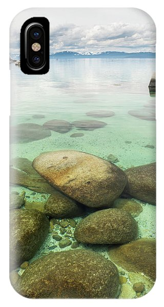 Clear Water, Stormy Sky IPhone Case