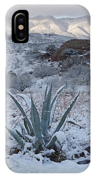 Clearing Desert Snowstorm IPhone Case