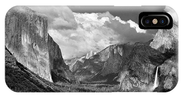 Clearing Skies Yosemite Valley IPhone Case