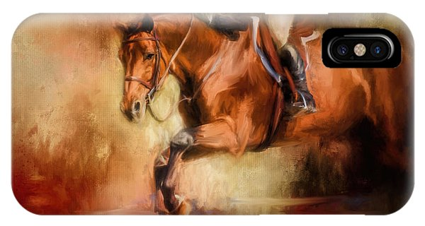 Clearing The Jump Equestrian Art IPhone Case