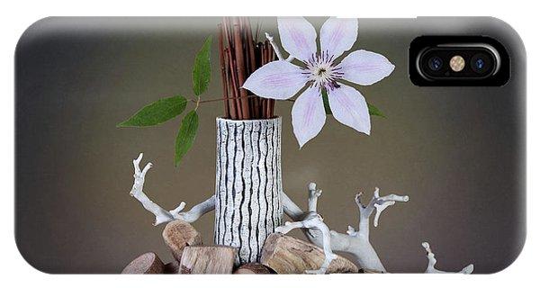 Blossom iPhone Case - Clematis Blossom by Tom Mc Nemar
