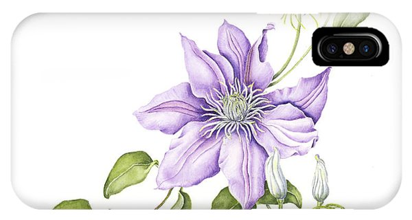 Clematis Cezanne IPhone Case