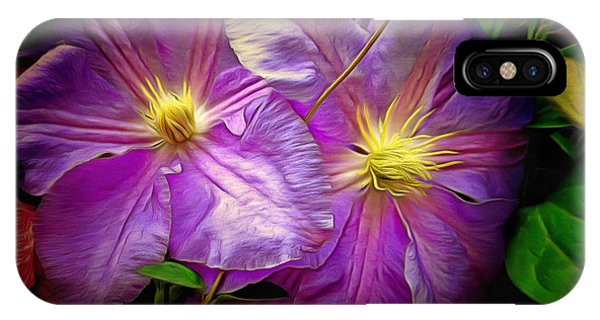 Clematis Azure Pearl IPhone Case